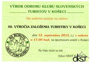 40.Výročie založenia turistiky v Košeci 12.9.2015